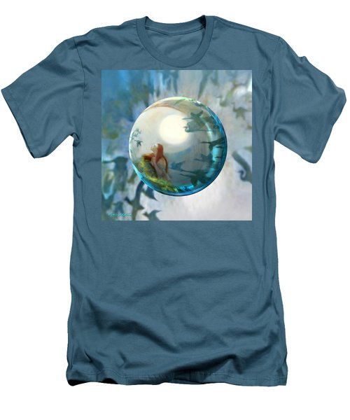 Men's T-Shirt (Slim Fit) featuring the painting Orbital Flight by Robin Moline