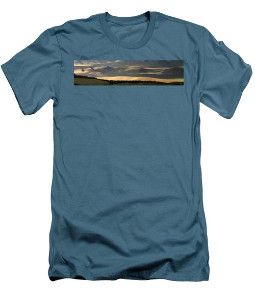 Men's T-Shirt (Slim Fit) featuring the photograph Oregon Canyon Mountain Layers And Textures by Leland D Howard