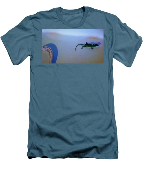 Men's T-Shirt (Athletic Fit) featuring the photograph Oscar The Lizard by Denise Fulmer