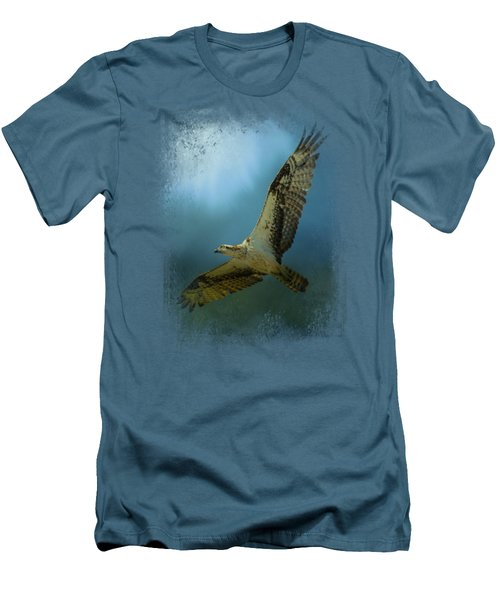 Osprey In The Evening Light Men's T-Shirt (Slim Fit) by Jai Johnson