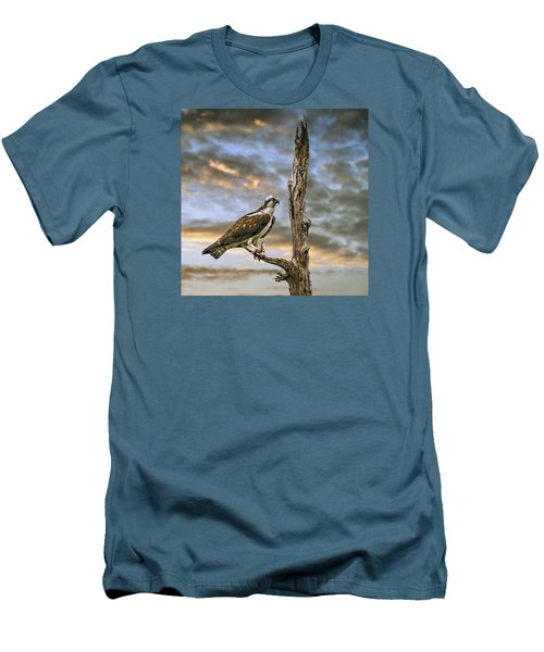 Men's T-Shirt (Slim Fit) featuring the photograph Osprey With Supper by Brian Tarr