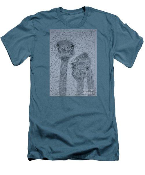 Ostrich Umbrella Men's T-Shirt (Slim Fit) by David Joyner