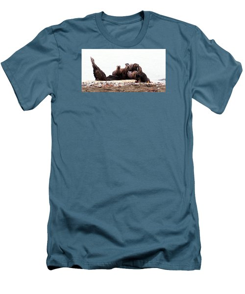Otters In Boulevard Park Men's T-Shirt (Athletic Fit)