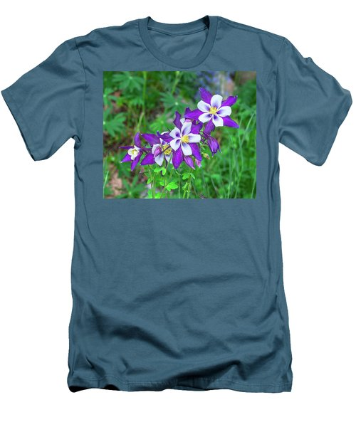Our Gorgeous State Flower, Colorado Columbine  Men's T-Shirt (Athletic Fit)