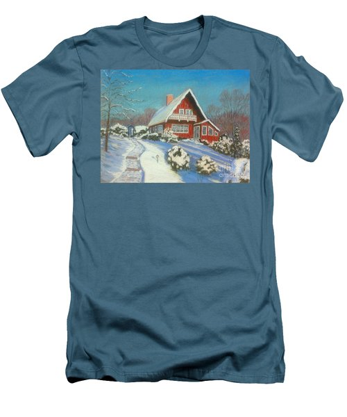 Our Home Men's T-Shirt (Slim Fit) by Rae  Smith  PAC