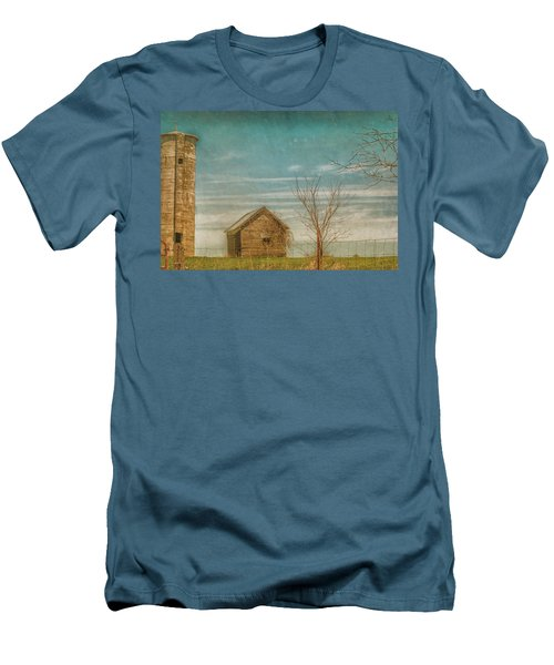 Out On The Farm Men's T-Shirt (Slim Fit) by Pamela Williams