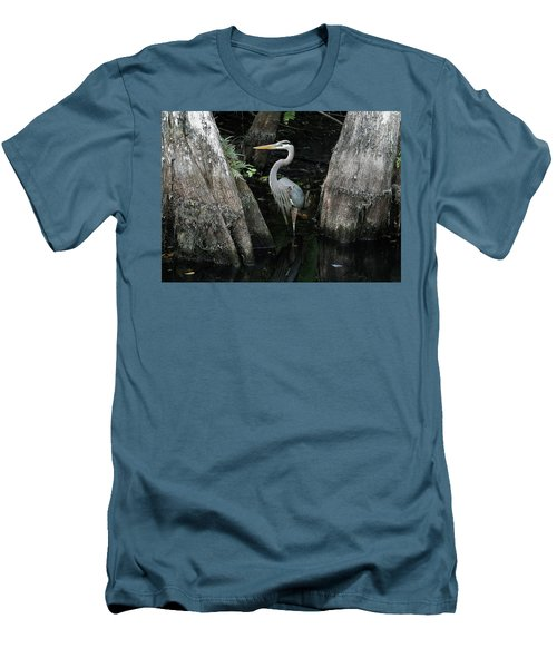 Out Standing In The Swamp Men's T-Shirt (Slim Fit) by Lamarre Labadie
