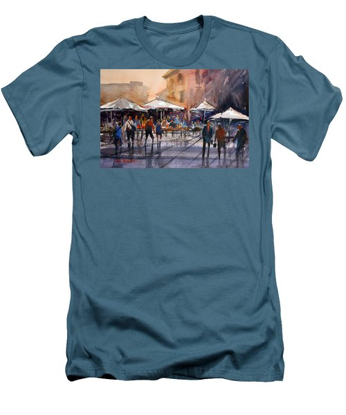 Outdoor Market - Rome Men's T-Shirt (Athletic Fit)