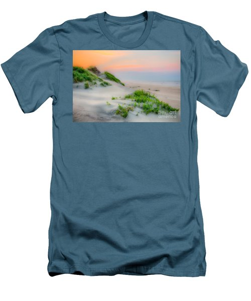 Outer Banks Soft Dune Sunrise Men's T-Shirt (Slim Fit) by Dan Carmichael