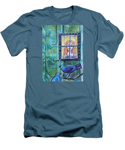 Outside My Window Men's T-Shirt (Athletic Fit)