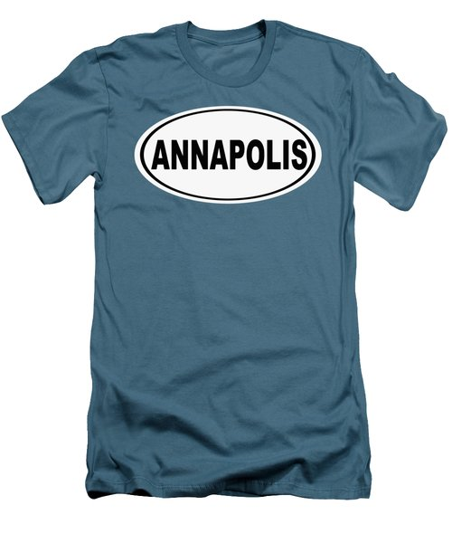 Men's T-Shirt (Slim Fit) featuring the photograph Oval Annapolis Maryland Home Pride by Keith Webber Jr