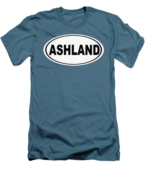 Men's T-Shirt (Slim Fit) featuring the photograph Oval Ashland Oregon Or Ohio Home Pride by Keith Webber Jr