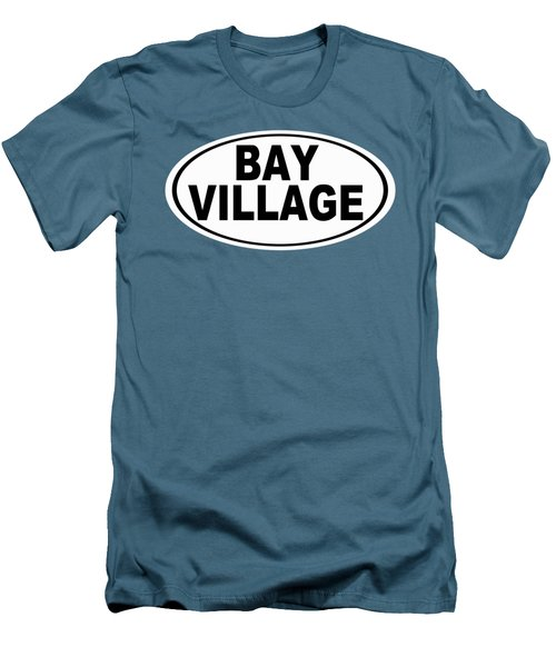 Men's T-Shirt (Slim Fit) featuring the photograph Oval Bay Village Ohio Home Pride by Keith Webber Jr