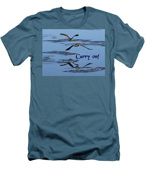 Over Icy Waters Carry On Men's T-Shirt (Slim Fit) by DeeLon Merritt