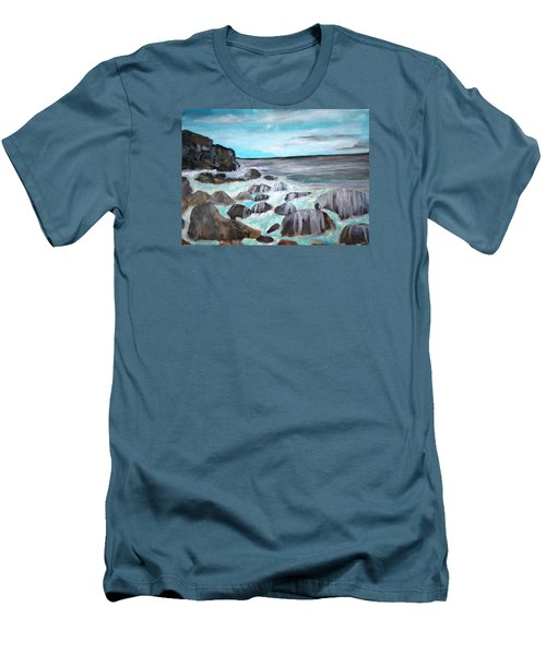 Over The Rocks Men's T-Shirt (Athletic Fit)