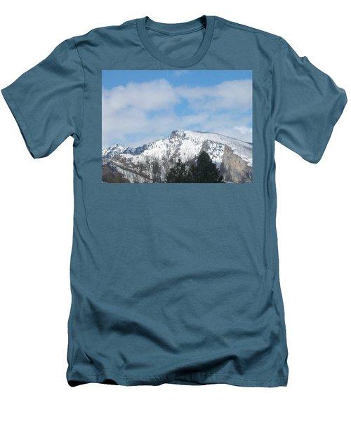 Overlooking Blodgett Men's T-Shirt (Slim Fit) by Jewel Hengen