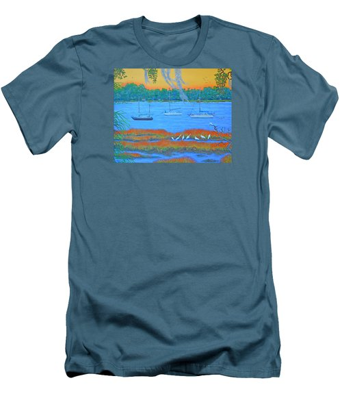 Overnight In Beaufort Men's T-Shirt (Slim Fit) by Dwain Ray