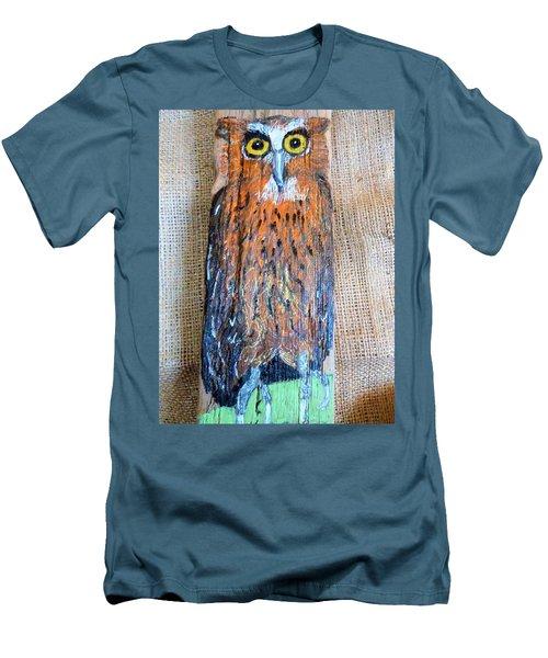 Owl Men's T-Shirt (Slim Fit) by Ann Michelle Swadener