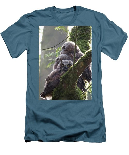 Owl Morning Men's T-Shirt (Slim Fit) by I'ina Van Lawick
