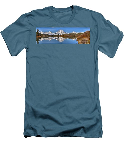 Oxbow Snake River Reflections Men's T-Shirt (Slim Fit) by Adam Jewell