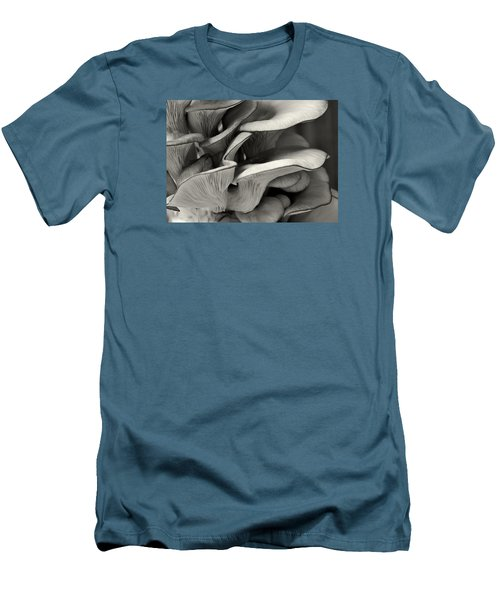 Oyster Mushroom Abstract Lv Men's T-Shirt (Slim Fit) by Shirley Mitchell