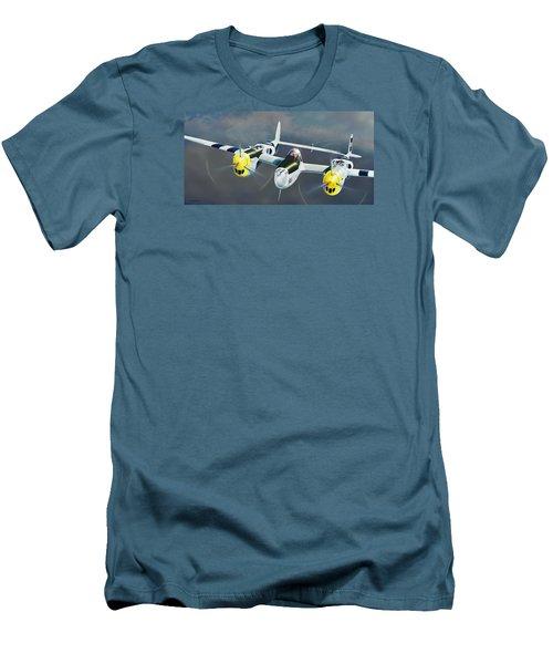 P-38 On The Prowl Men's T-Shirt (Slim Fit) by Douglas Castleman