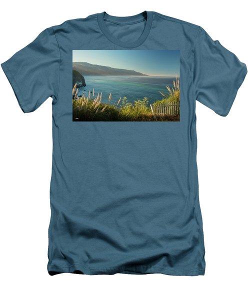 Pacific Ocean, Big Sur Men's T-Shirt (Slim Fit) by Dana Sohr