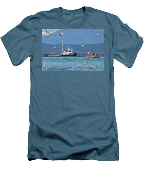 Men's T-Shirt (Slim Fit) featuring the photograph Pacific Ocean Herring by Randy Hall