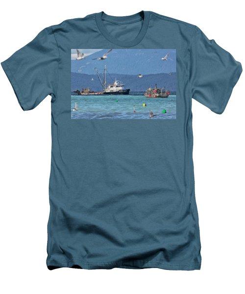 Pacific Ocean Herring Men's T-Shirt (Slim Fit) by Randy Hall