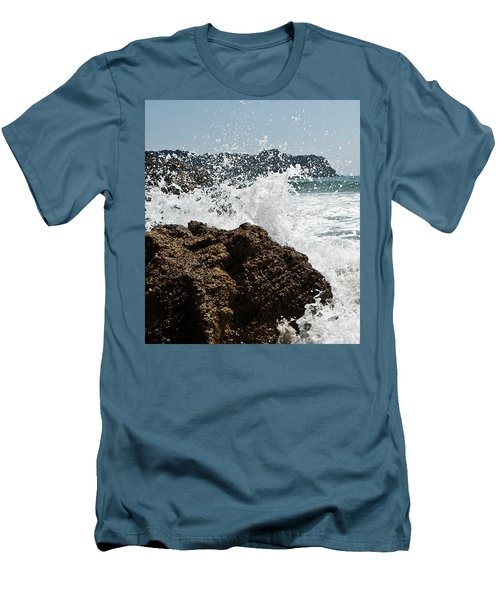 Men's T-Shirt (Slim Fit) featuring the photograph Pacific Splash by Yurix Sardinelly