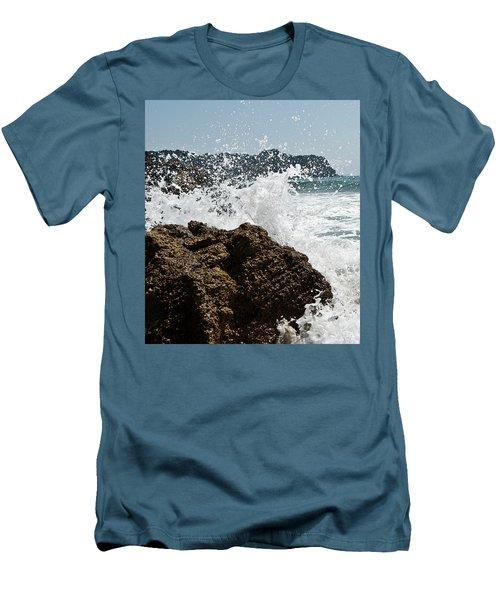 Pacific Splash Men's T-Shirt (Slim Fit) by Yurix Sardinelly