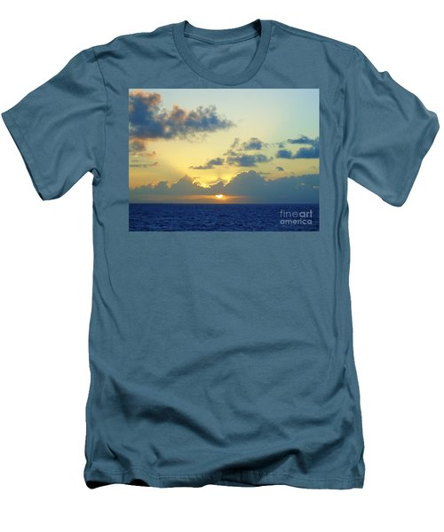 Pacific Sunrise, Japan Men's T-Shirt (Slim Fit) by Susan Lafleur