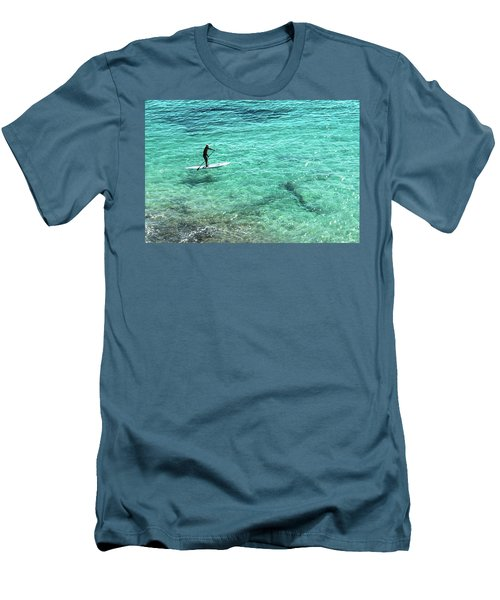 Paddle The Aqua Sea Men's T-Shirt (Athletic Fit)