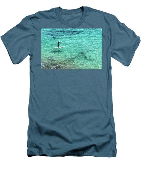 Paddle The Aqua Sea Men's T-Shirt (Athletic Fit)