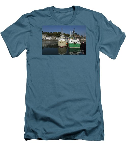 Padstow Fishing Boats Men's T-Shirt (Slim Fit) by Brian Roscorla