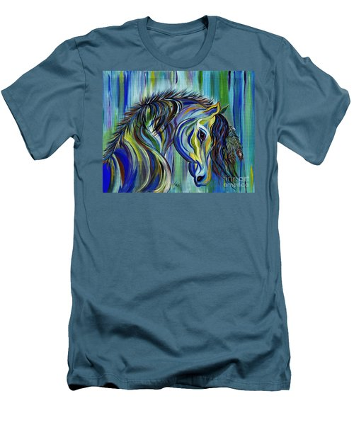 Paint Native American Horse Men's T-Shirt (Athletic Fit)