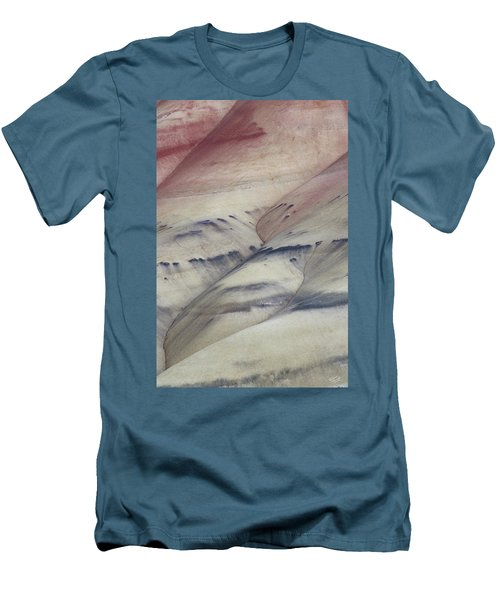 Men's T-Shirt (Slim Fit) featuring the photograph Painted Hills Textures 2 by Leland D Howard