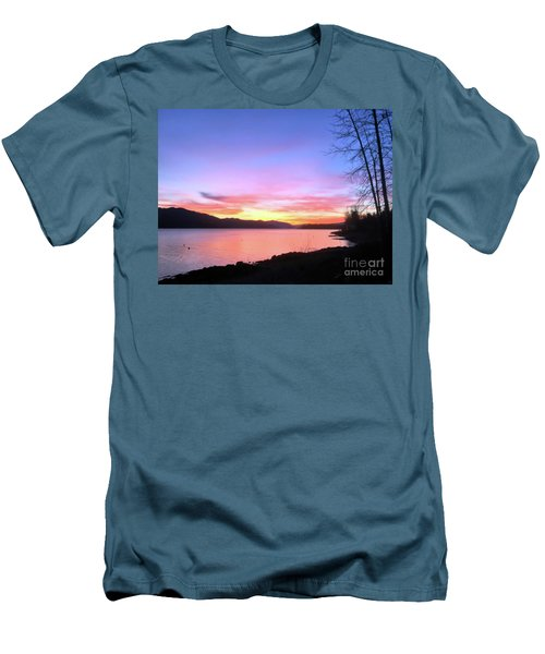Painted Sky Men's T-Shirt (Slim Fit) by Victor K