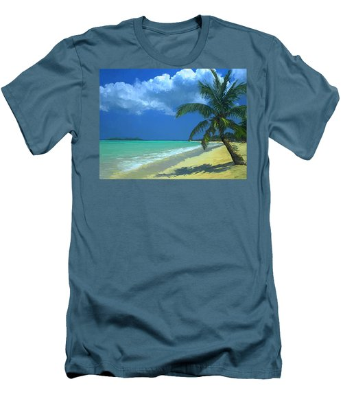 Palm Beach In The Keys Men's T-Shirt (Slim Fit) by David  Van Hulst