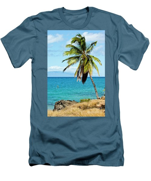 Men's T-Shirt (Slim Fit) featuring the photograph Palms On Hawaiian Beach 12 by Micah May