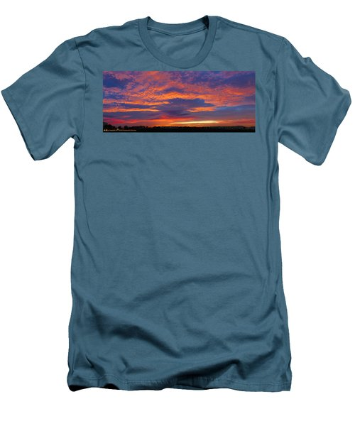 Pana 53rd Ave Sunrise Men's T-Shirt (Slim Fit) by Kimo Fernandez