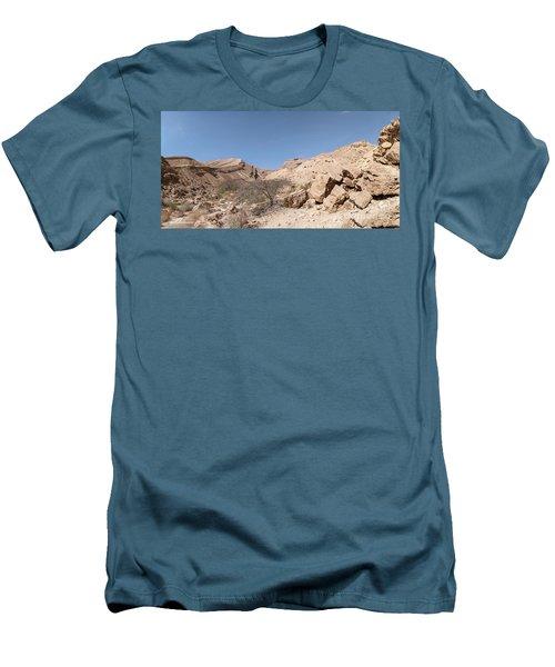 Panorama On Genesis Land 03 Men's T-Shirt (Slim Fit) by Arik Baltinester