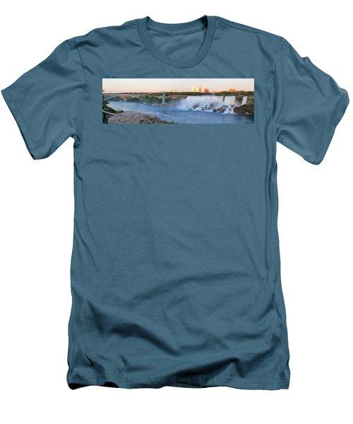 Panoramic Views Of The Peacebridge, Niagara River And American Falls Men's T-Shirt (Athletic Fit)