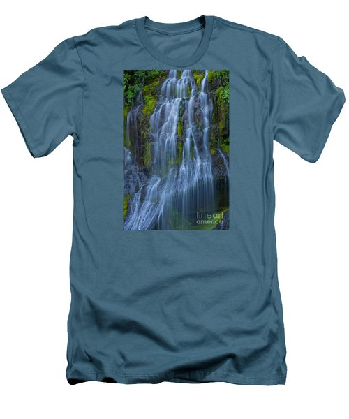 Panther Creek Falls Summer Waterfall -close 2 Men's T-Shirt (Athletic Fit)