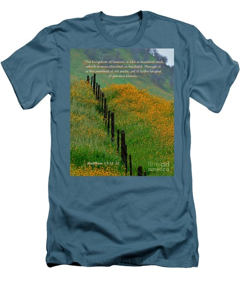 Men's T-Shirt (Slim Fit) featuring the photograph Parable Of The Mustard Seed by Debby Pueschel