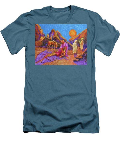 Parables Of Jesus Parable Of The Good Samaritan Painting Bertram Poole Men's T-Shirt (Slim Fit) by Thomas Bertram POOLE