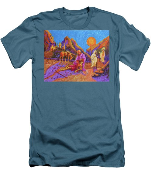 Parables Of Jesus Parable Of The Good Samaritan Painting Bertram Poole Men's T-Shirt (Athletic Fit)