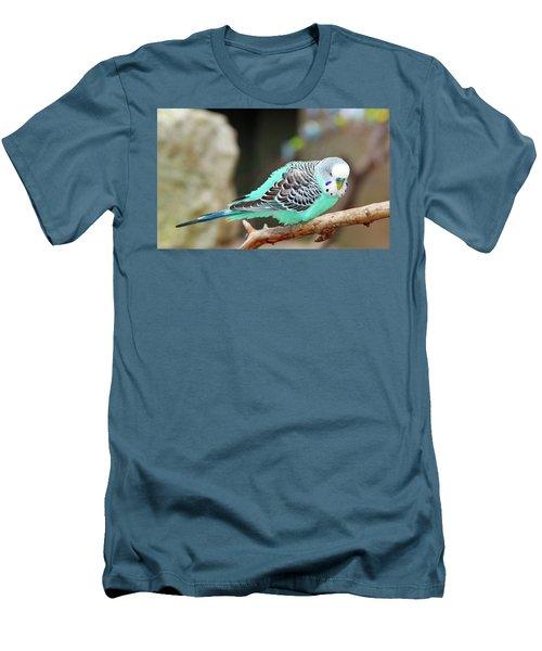 Parakeet  Men's T-Shirt (Slim Fit) by Inspirational Photo Creations Audrey Woods
