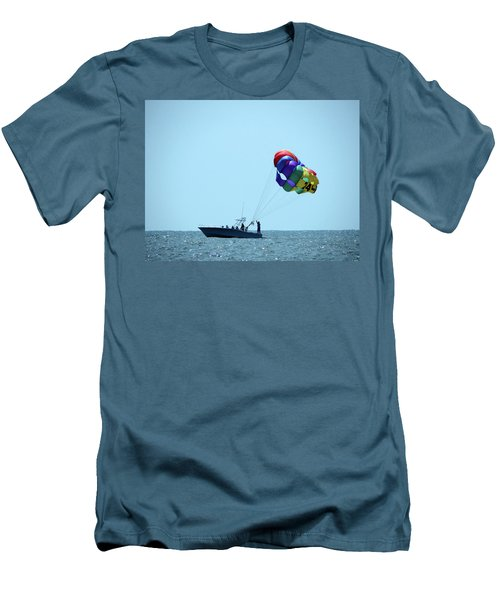 Parasail Men's T-Shirt (Slim Fit) by Cathy Harper