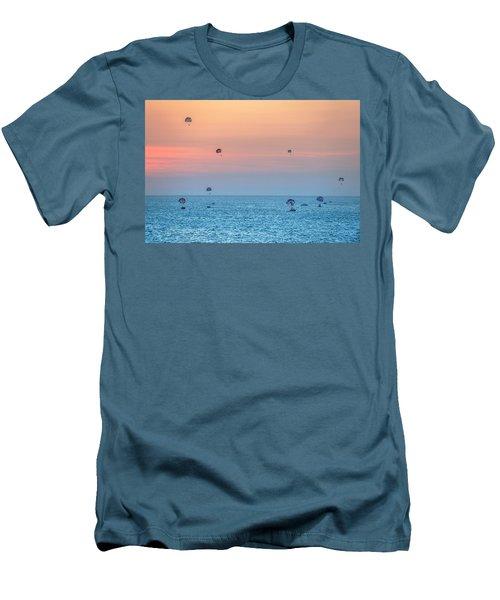 Parasailing At Boracay Men's T-Shirt (Athletic Fit)